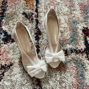 Maiya wedding heels from David's Bridal. Unused.